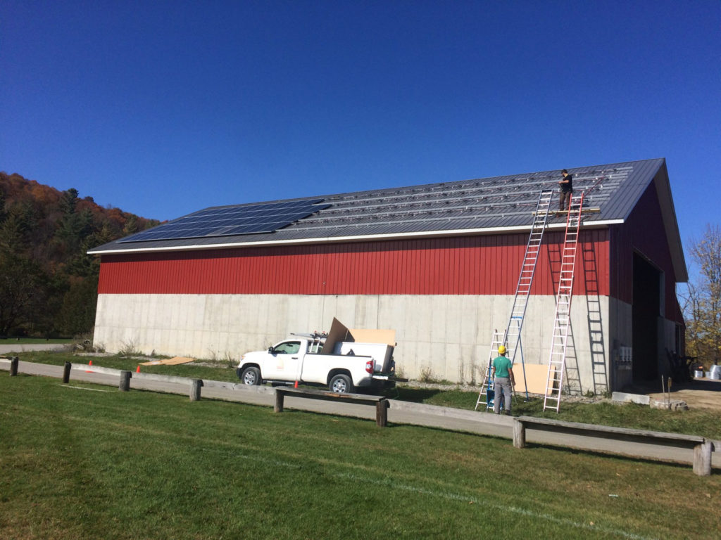 roof mounted solar system