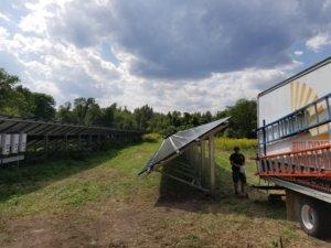 solar fram installation