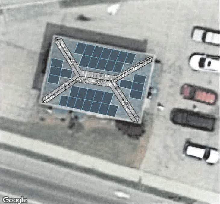solar system design on roof
